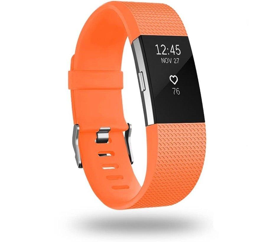Strap-it® Fitbit Charge 2 siliconen bandje (oranje)