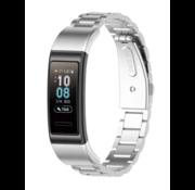 Strap-it® Huawei band 3 / 4 Pro stalen band (zilver)