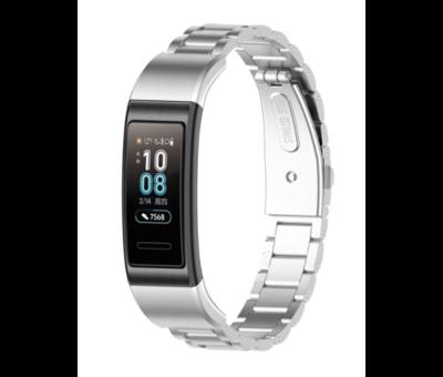Strap-it® Strap-it® Huawei band 3 / 4 Pro stalen band (zilver)