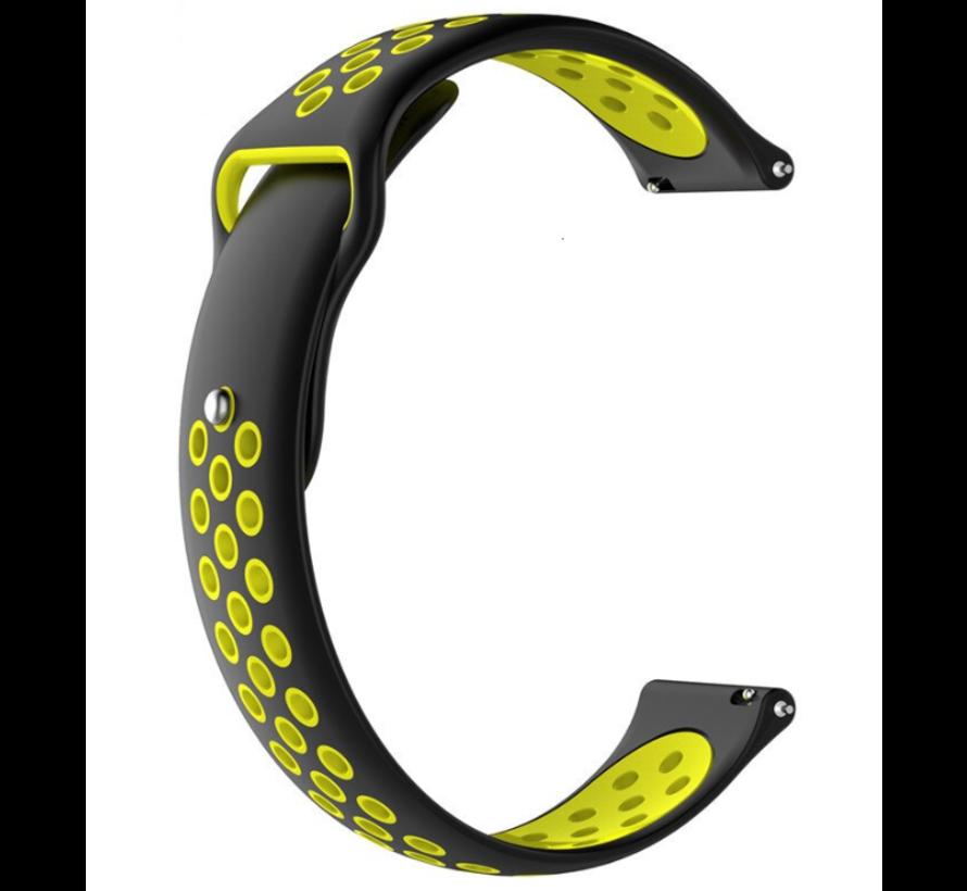 Strap-it® Garmin Forerunner 245 / 645 sport band (zwart/geel)