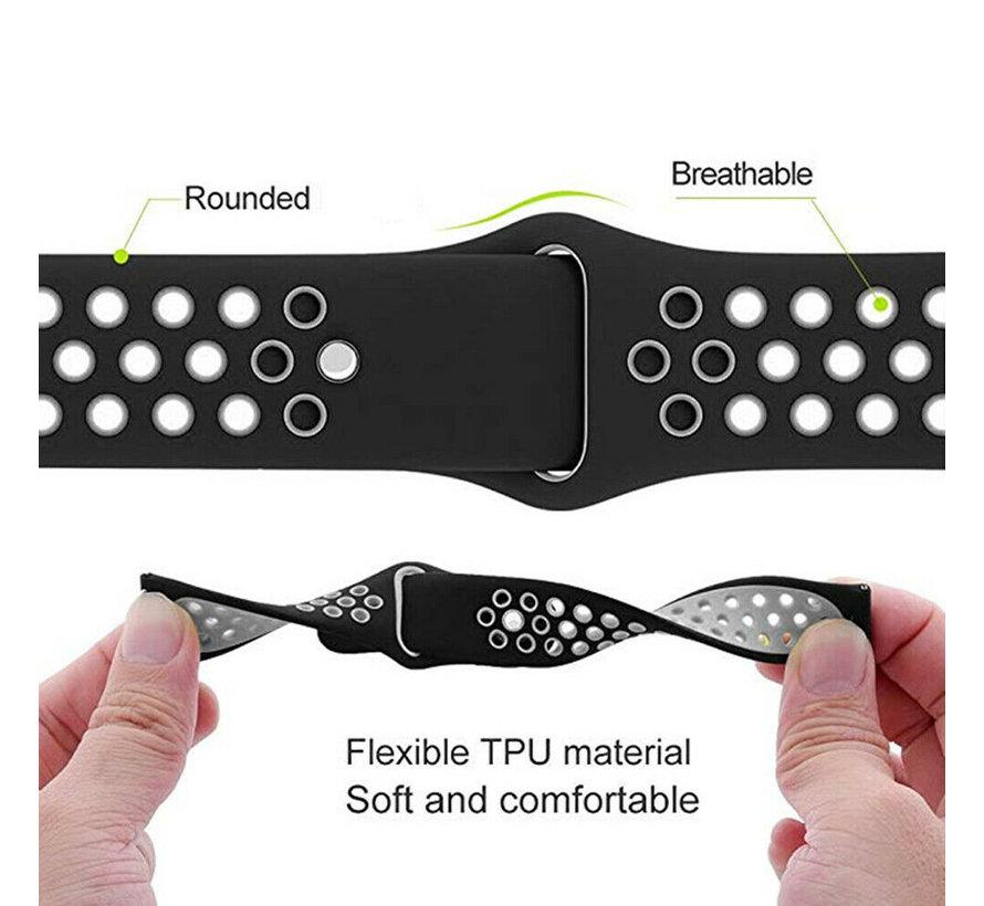 Strap-it® Garmin Forerunner 245 / 645 sport band (zwart/grijs)