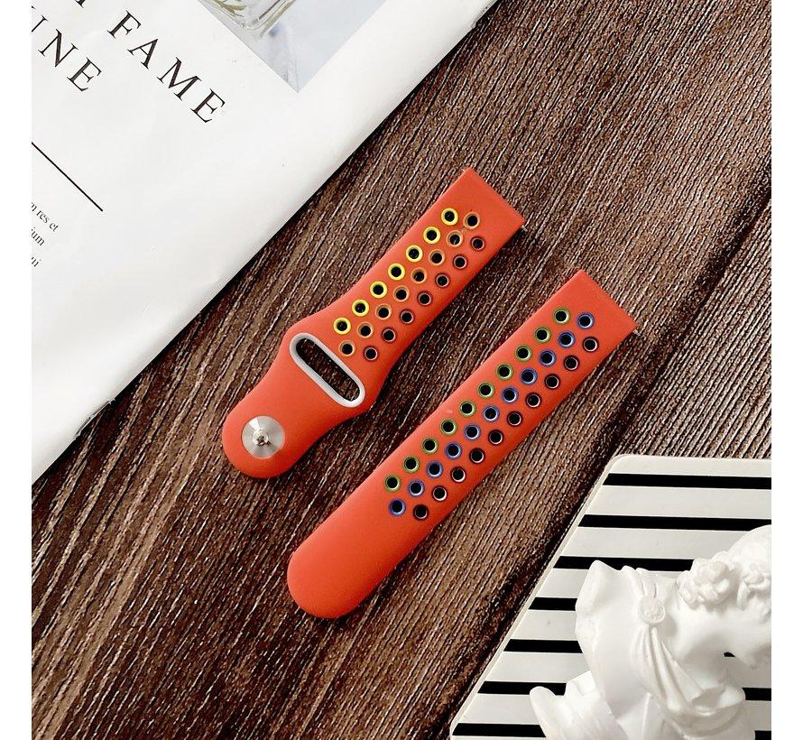 Strap-it® Samsung Galaxy Watch Active sport band (kleurrijk rood)