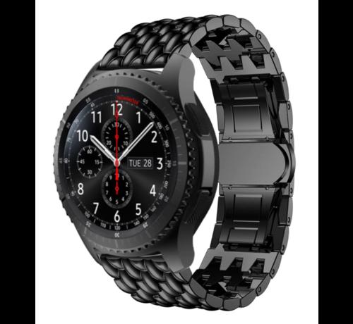 Strap-it® Strap-it® Samsung Galaxy Watch stalen draak band 45mm/46mm (zwart)