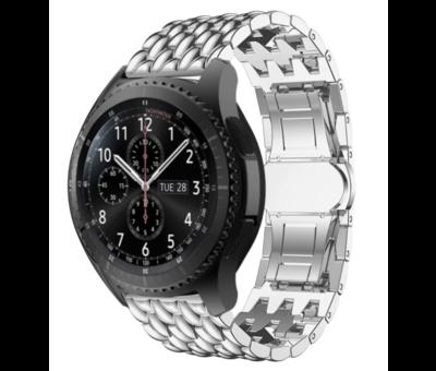 Strap-it® Strap-it® Samsung Galaxy Watch stalen draak band 45mm/46mm (zilver)