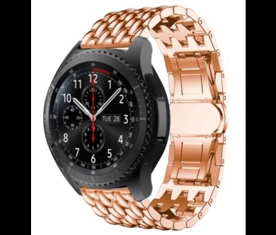 Strap-it® Strap-it® Samsung Galaxy Watch stalen draak band 45mm/46mm (rosé goud)