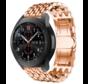 Strap-it® Samsung Galaxy Watch stalen draak band 45mm/46mm (rosé goud)
