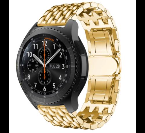 Strap-it® Strap-it® Samsung Galaxy Watch stalen draak band 45mm/46mm (goud)