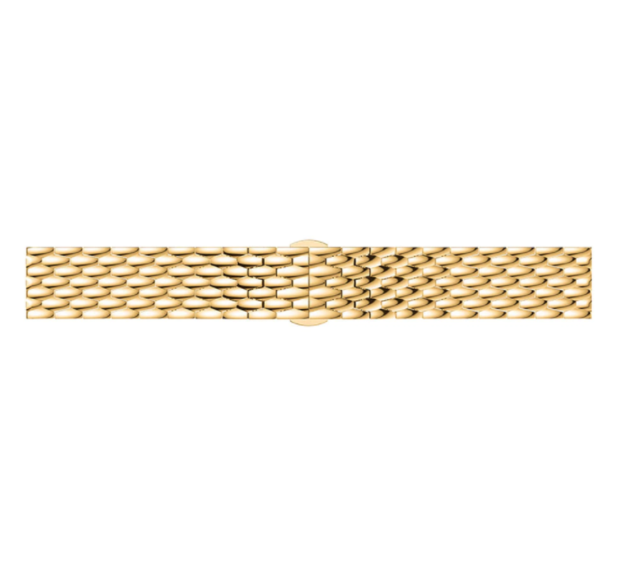 Strap-it® Samsung Galaxy Watch Active stalen draak band (goud)