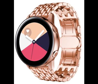 Strap-it® Strap-it® Samsung Galaxy Watch Active stalen draak band (rosé goud)