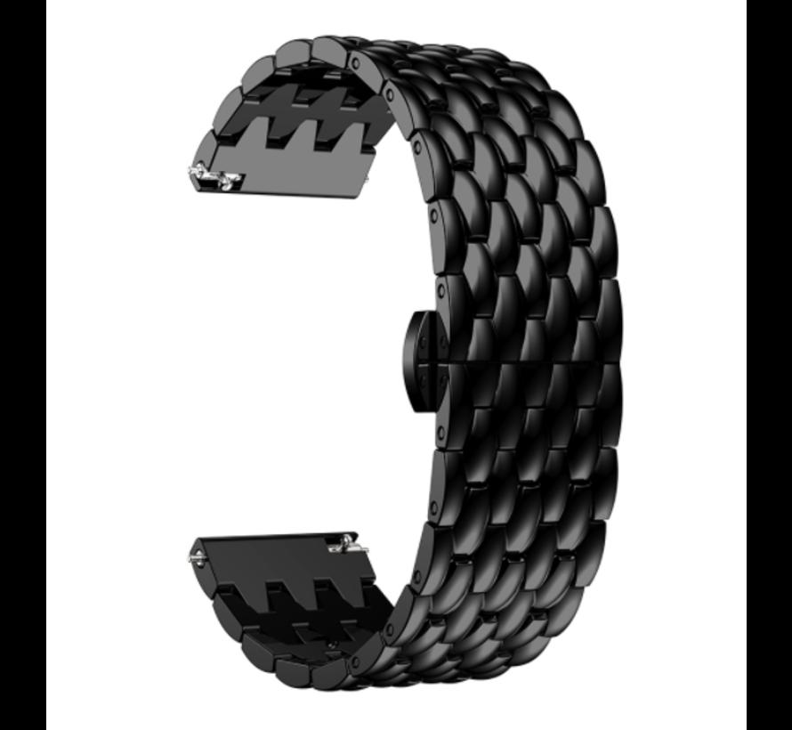Strap-it® Huawei Watch GT stalen draak band (zwart)