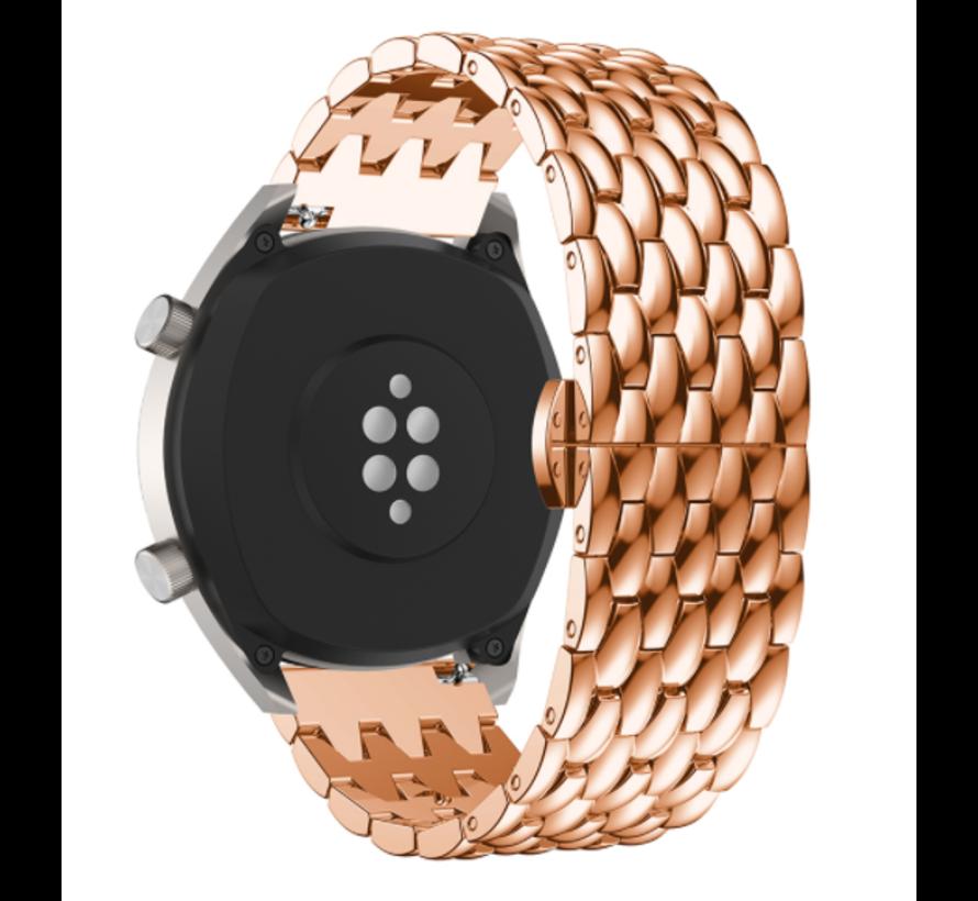 Strap-it® Huawei Watch GT stalen draak band (rosé goud)