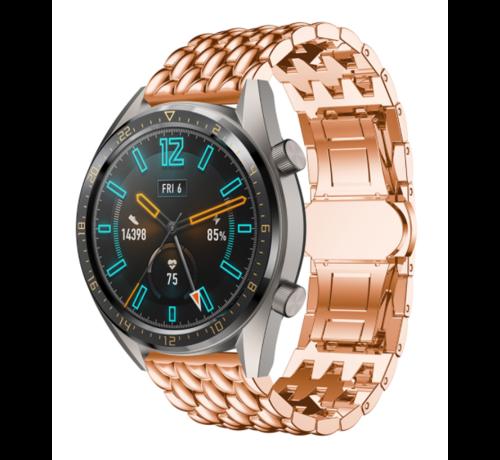 Strap-it® Strap-it® Huawei Watch GT stalen draak band (rosé goud)