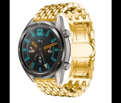 Strap-it® Strap-it® Huawei Watch GT stalen draak band (goud)