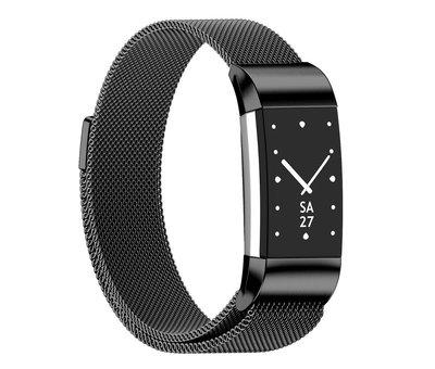 Strap-it® Strap-it® Fitbit Charge 2 Milanese band (zwart)