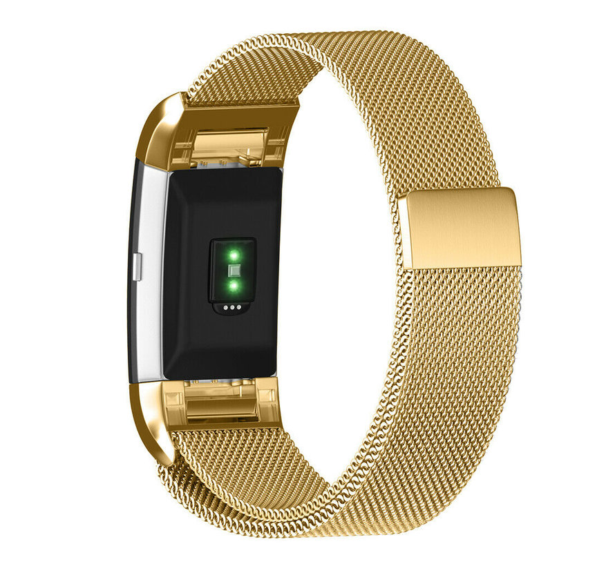 Strap-it® Fitbit Charge 2 Milanese band (goud)