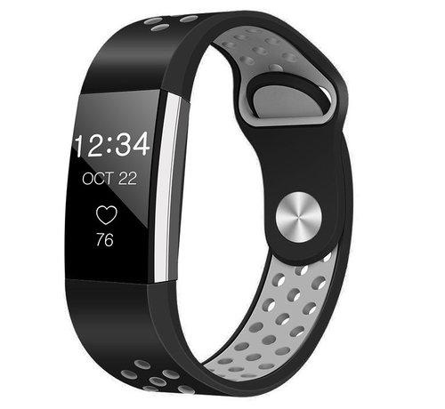 Strap-it® Strap-it® Fitbit Charge 2 sport band (zwart/grijs)