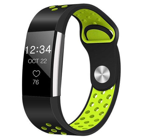 Strap-it® Strap-it® Fitbit Charge 2 sport band (zwart/geel)