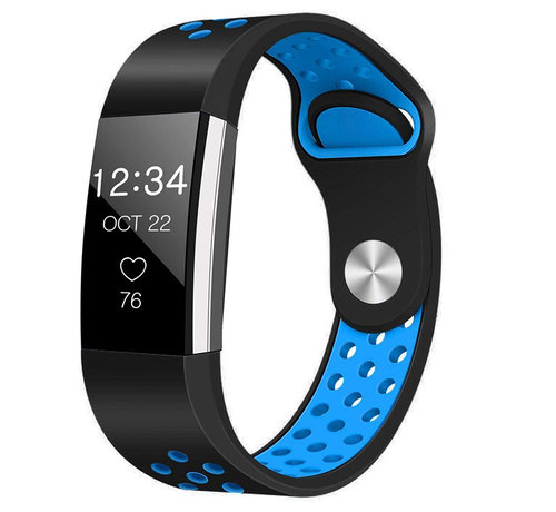 Strap-it® Strap-it® Fitbit Charge 2 sport band (zwart/blauw)