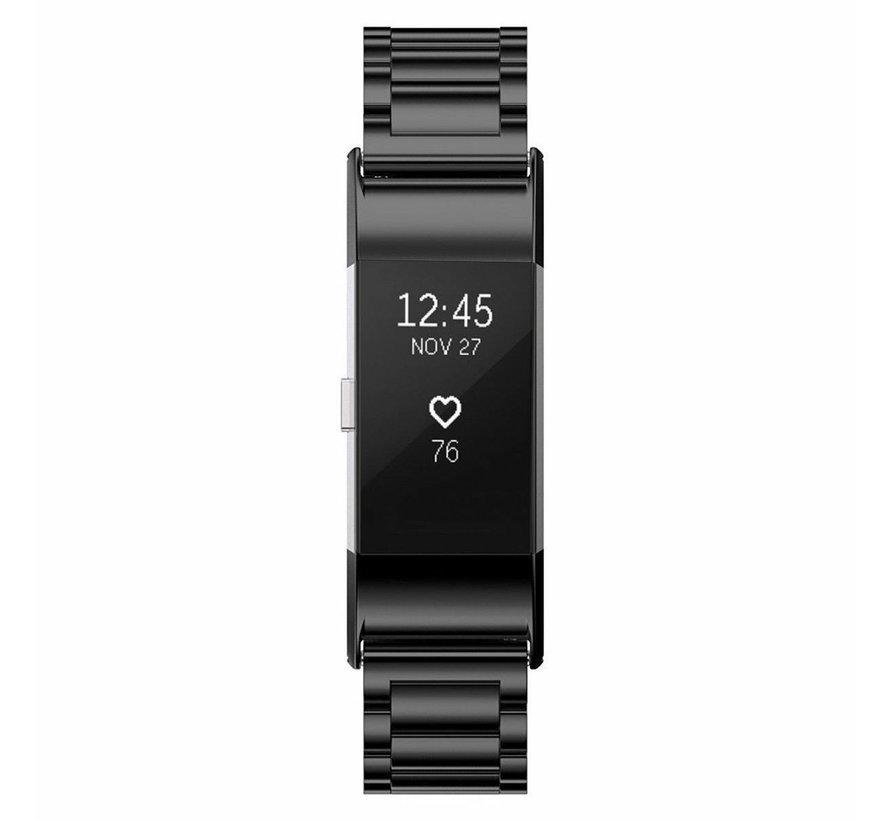 Strap-it® Fitbit Charge 2 stalen band (zwart)
