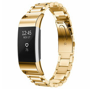 Strap-it® Fitbit Charge 2 stalen band (goud)
