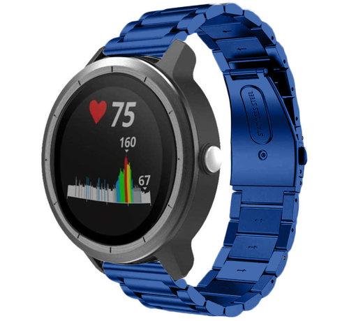 Strap-it® Strap-it® Garmin Vivoactive 3 stalen band (blauw)