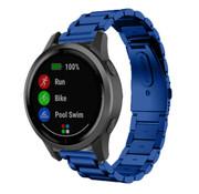 Strap-it® Garmin Vivoactive 4 stalen band - 45mm - blauw