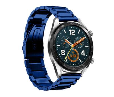 Strap-it® Strap-it® Huawei Watch GT stalen band (blauw)
