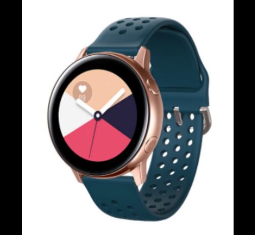 Strap-it® Strap-it® Samsung Galaxy Watch Active siliconen bandje met gaatjes (rock green)