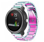 Strap-it® Garmin Vivoactive 3 stalen band (regenboog)