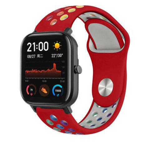 Strap-it® Strap-it® Xiaomi Amazfit GTS sport band (kleurrijk rood)