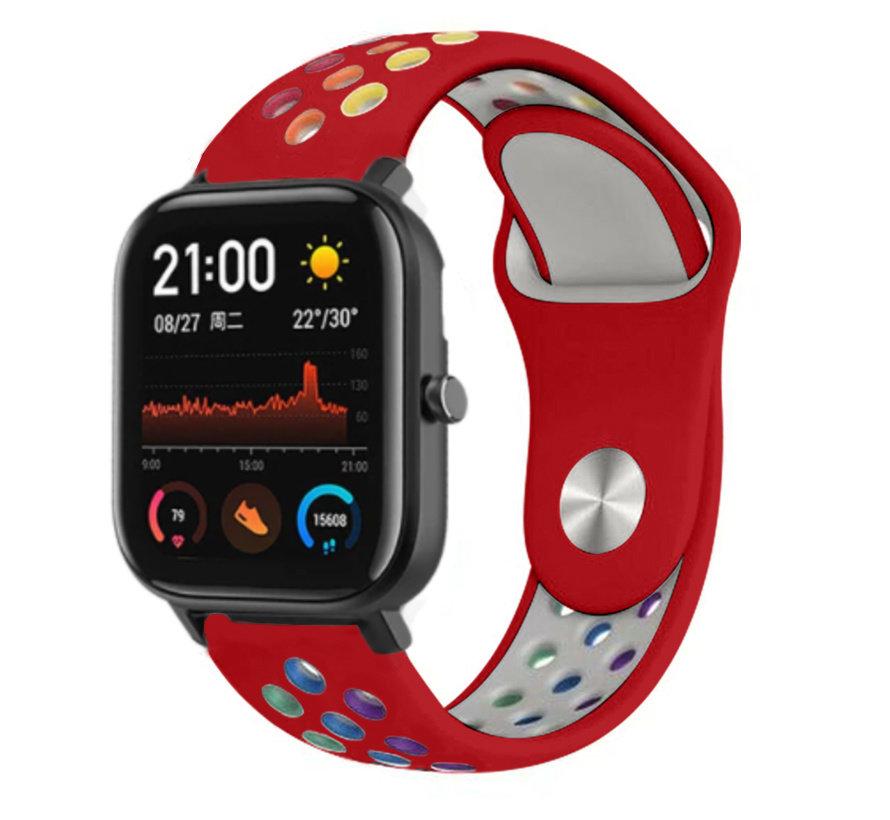 Strap-it® Xiaomi Amazfit GTS sport band (kleurrijk rood)