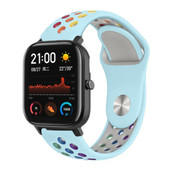 Strap-it® Xiaomi Amazfit GTS sport band (kleurrijk lichtblauw)
