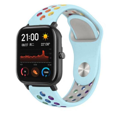 Strap-it® Strap-it® Xiaomi Amazfit GTS sport band (kleurrijk lichtblauw)