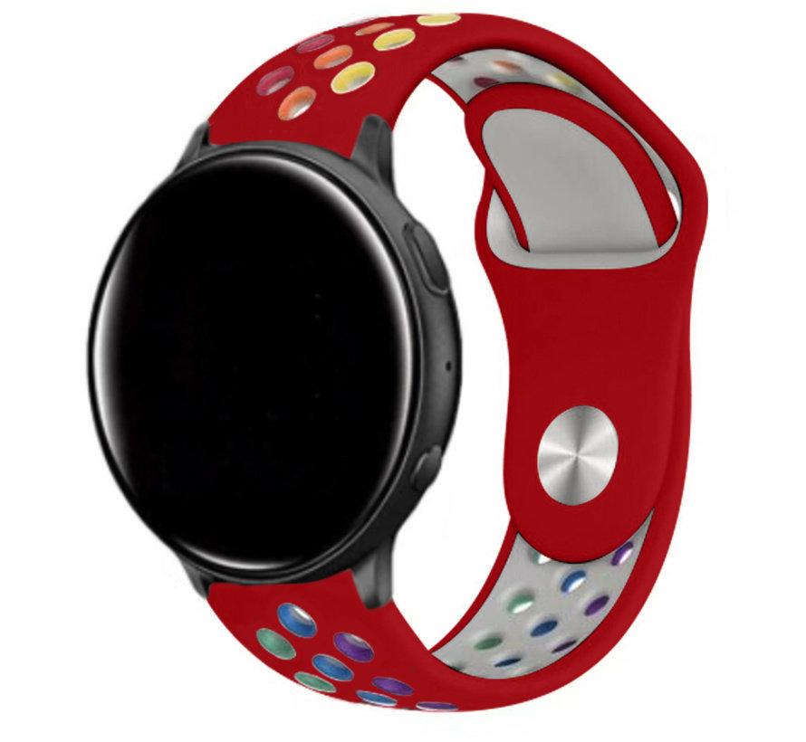 Strap-it® Garmin Vivoactive 3 sport band (rood kleurrijk)