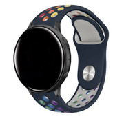 Strap-it® Garmin Vivoactive 3 sport band (donkerblauw kleurrijk)