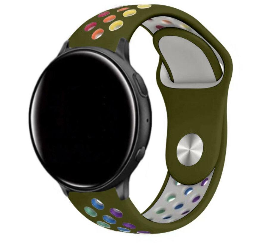 Strap-it® Garmin Vivoactive 3 sport band (legergroen kleurrijk)