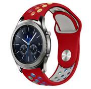 Strap-it® Samsung Gear S3 sport band (rood kleurrijk)