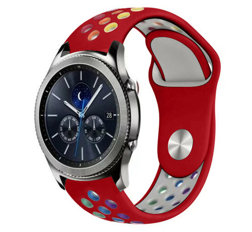Strap-it® Strap-it® Samsung Gear S3 sport band (rood kleurrijk)