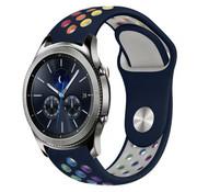 Strap-it® Samsung Gear S3 sport band (donkerblauw kleurrijk)