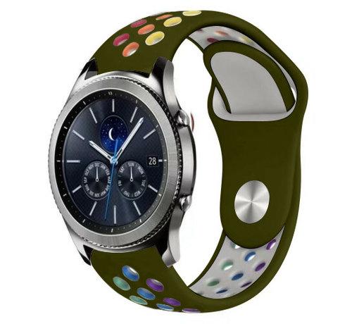 Strap-it® Strap-it® Samsung Gear S3 sport band (legergroen kleurrijk)