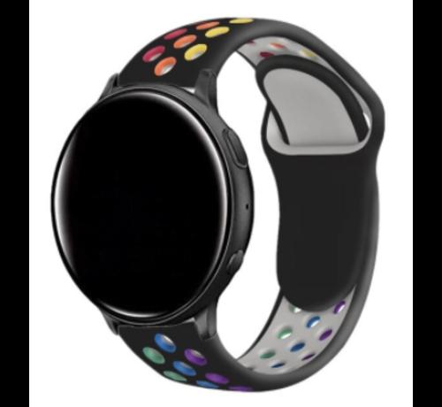 Strap-it® Strap-it® Garmin Vivoactive 4 sport band - 45mm - zwart/kleurrijk