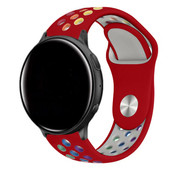 Strap-it® Garmin Vivoactive 4 sport band - 45mm - rood/kleurrijk