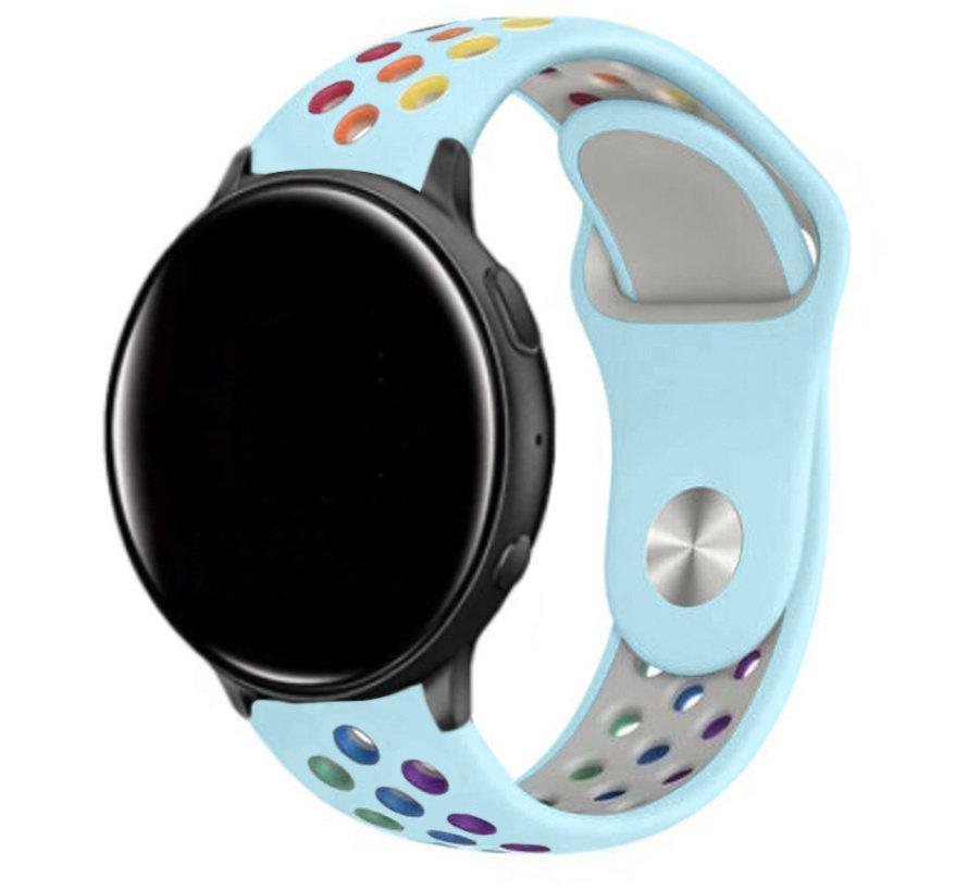 Strap-it® Garmin Vivoactive 4 sport band - 45mm -lichtblauw/kleurrijk