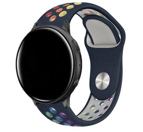 Strap-it® Strap-it® Garmin Vivoactive 4 sport band - 45mm - donkerblauw/kleurrijk
