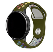 Strap-it® Garmin Vivoactive 4 sport band - 45mm - legergroen/kleurrijk