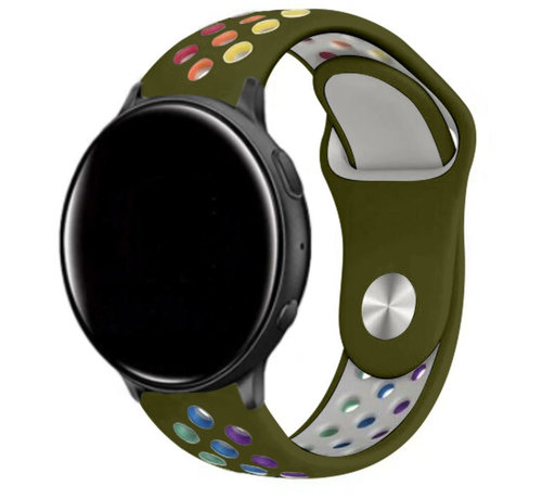 Strap-it® Strap-it® Garmin Vivoactive 4 sport band - 45mm - legergroen/kleurrijk