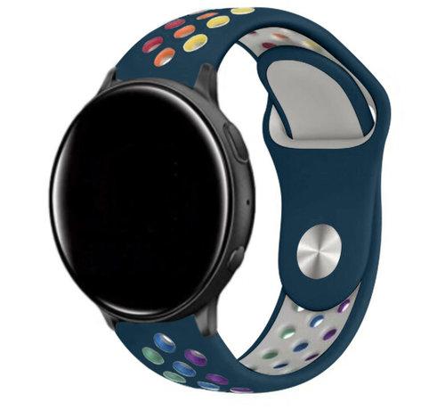 Strap-it® Strap-it® Garmin Vivoactive 4 sport band - 45mm - dennengroen/kleurrijk