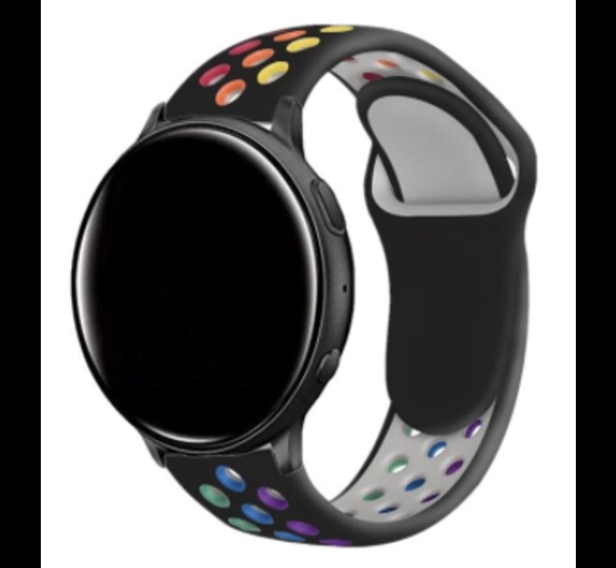 Strap-it® Garmin Vivomove HR sport band (zwart/kleurrijk)