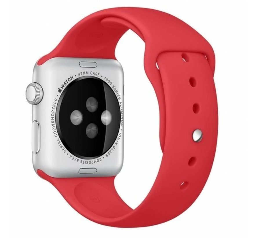 Strap-it® Apple Watch SE silicone band (rood)