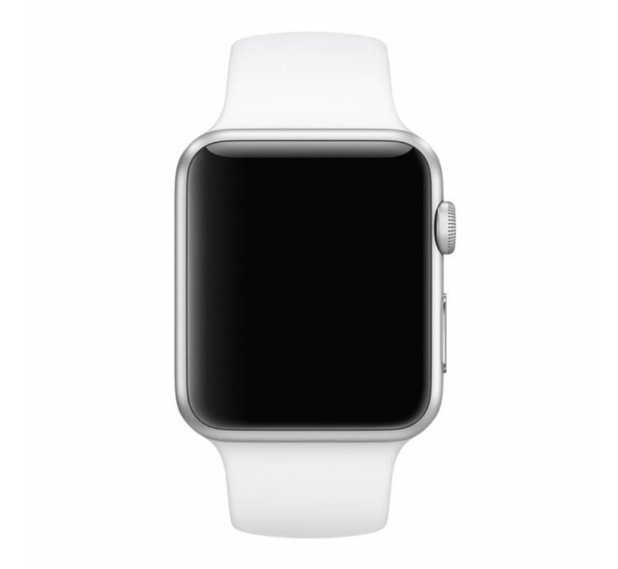 Strap-it® Apple Watch SE silicone band (wit)